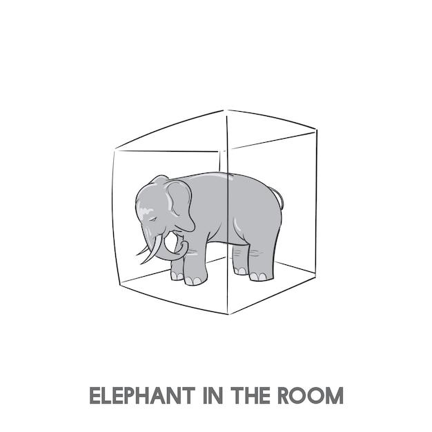 Elefante no quarto