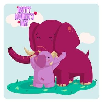 Elefantes dia das mães