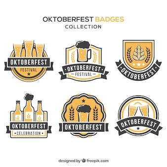 Elegant badges mais oktoberfest
