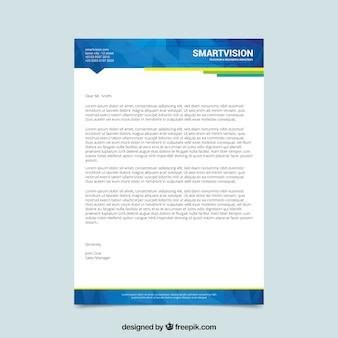 Elegant blue letterhead template