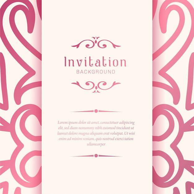 Elegant ornamental wedding invitation padrão de fundo