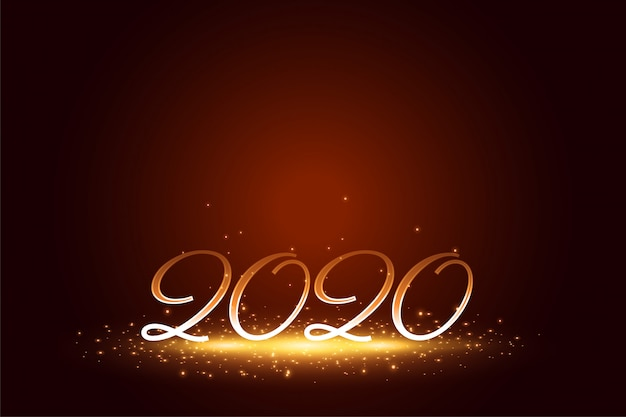Elegante 2020 feliz ano novo brilha