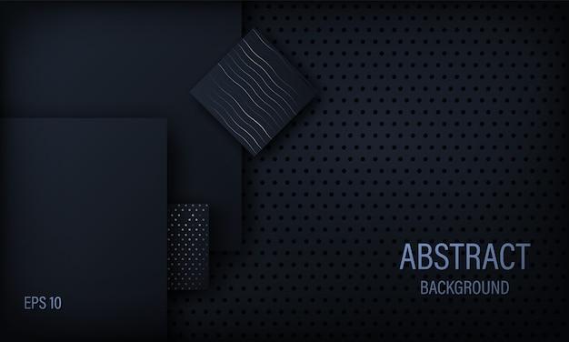 Elegante abstrato preto.