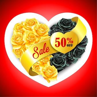 Elegante almofada rosa com coração em aquarela preta venda na sexta-feira do dia dos namorados