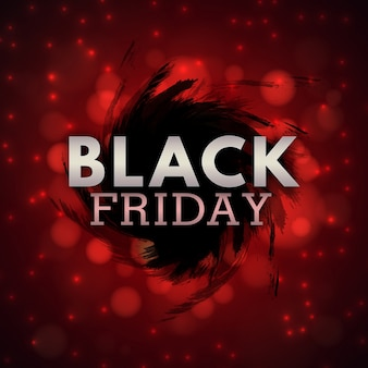 Elegante black and red water color black friday background