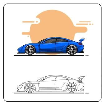 Elegante carro fácil editável