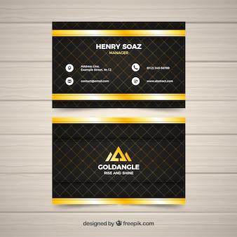 Elegante cartão corporativo com listras douradas