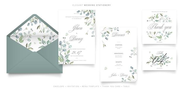 Elegante, casamento, papelaria, cobrança