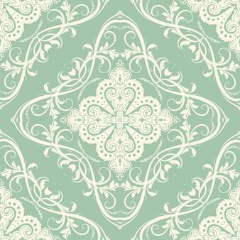 Elegante com um padrão decorativo de azulejos sem costura