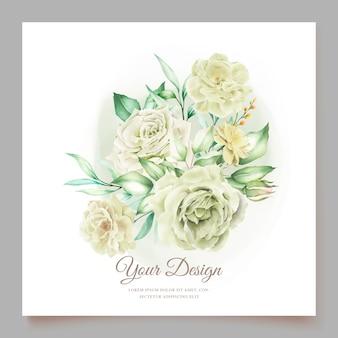 Elegante conjunto de cartão de convite de casamento