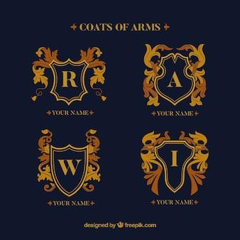 Elegante conjunto de emblemas luxuosos