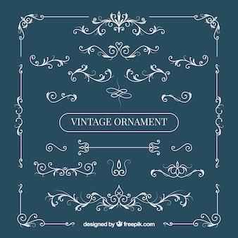 Elegante conjunto de ornamentos vintage