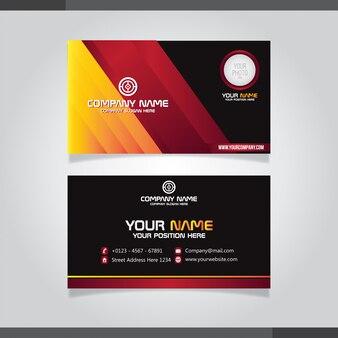 Elegante design de cartão de visita criativo vermelho e laranja