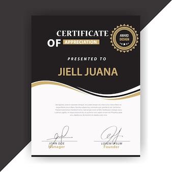 Elegante design de certificados