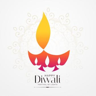 Elegante diwali festival diya design criativo