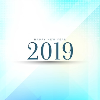 Elegante feliz ano novo 2019 fundo de saudação