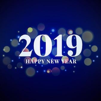 Elegante feliz ano novo com bokeh