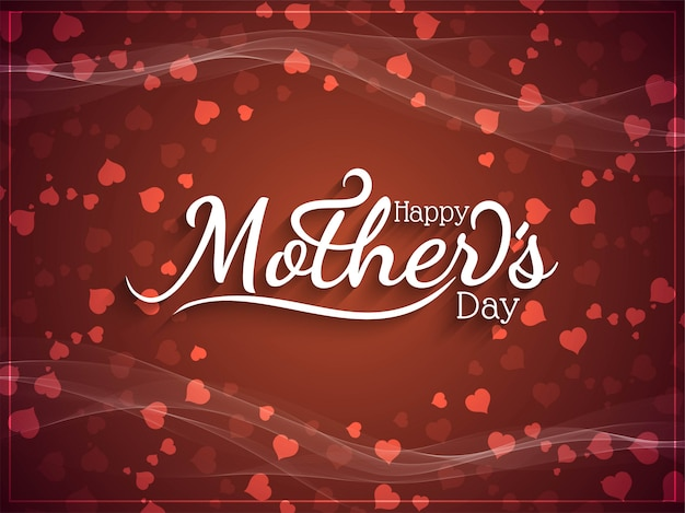 Elegante feliz dia das mães com corações