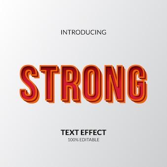 Elegante forte com texto editável do título de cor amarela e vermelha