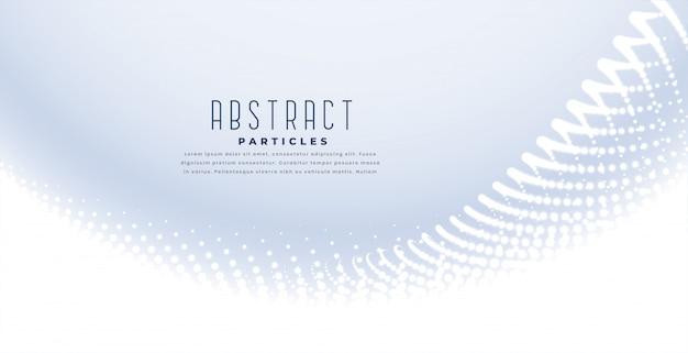 Elegante fundo branco com onda de partículas