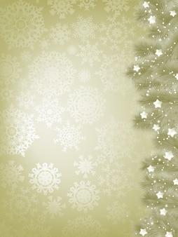 Elegante fundo de natal com floco de neve.