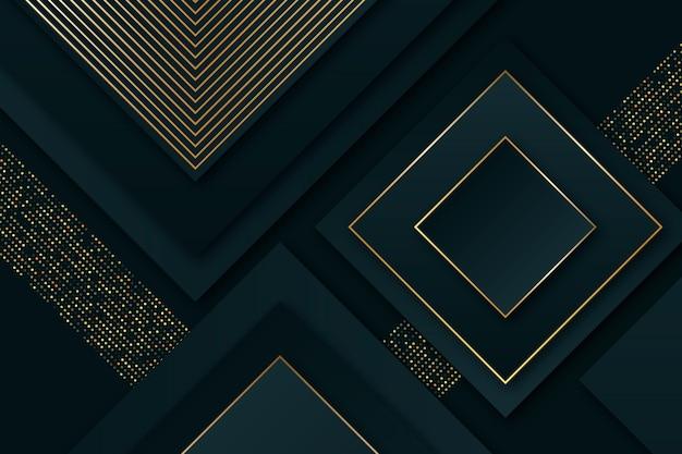 Elegante fundo escuro com detalhes dourados