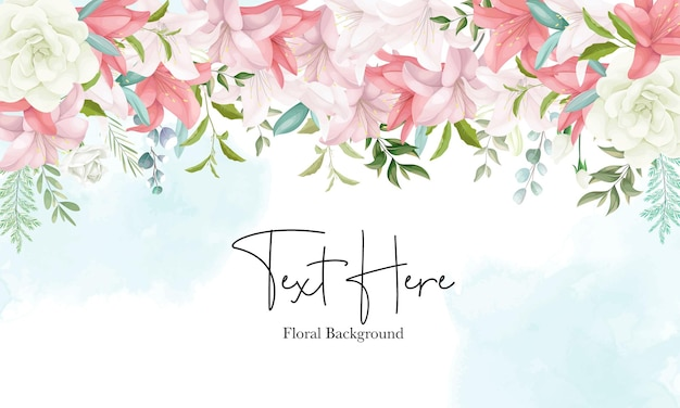 Elegante fundo floral com mão desenhando flores e folhas macias