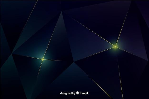 Elegante fundo poligonal escuro