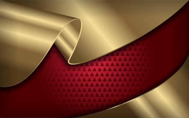 Elegante fundo vermelho e dourado moderno