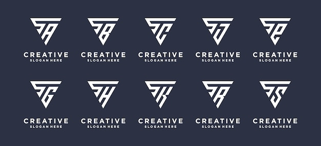 Elegante letra s logo inicial s logo em estilo triângulo.