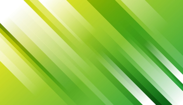 Elegante listrado verde