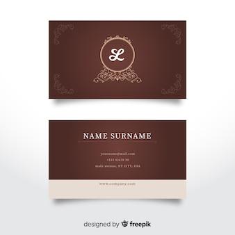 Elegante, luxuoso, cartão negócio, modelo
