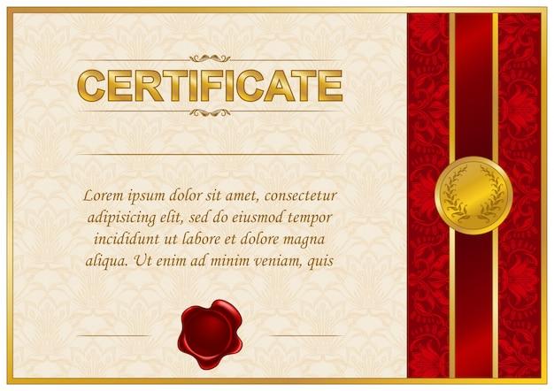 Elegante modelo de certificado
