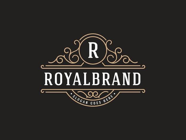 Elegante modelo de logotipo de luxo