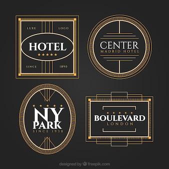 Elegante pacote de logos de hotéis