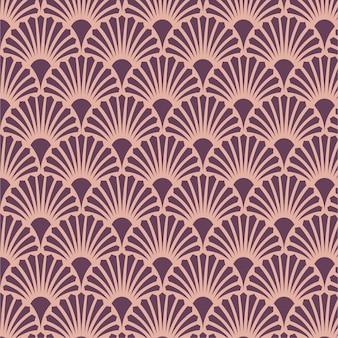 Elegante padrão de arte em ouro rosa