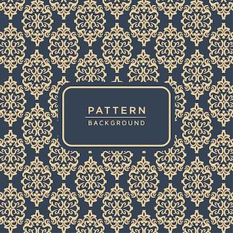 Elegante padrão ornamental de estilo barroco