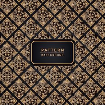 Elegante padrão ornamental de fundo na cor do ouro