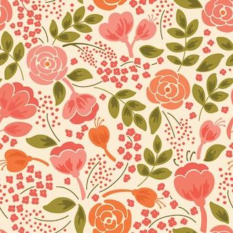 Elegante padrão sem emenda com flores