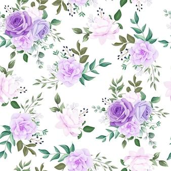 Elegante padrão sem emenda floral