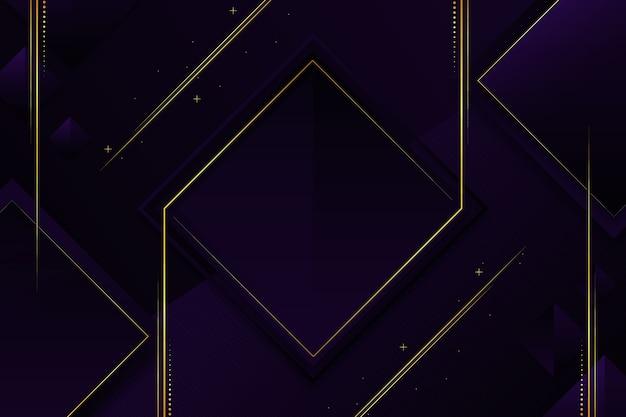 Elegante papel de parede escuro com detalhes dourados