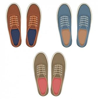 Elegante par de sapatos colecção