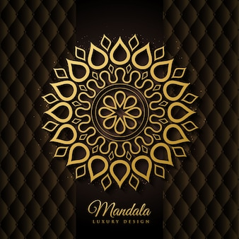 Elegante preto e dourado mandala background vector