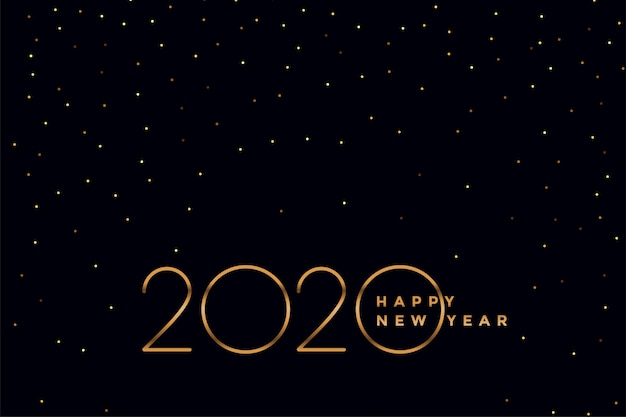 Elegante preto e ouro 2020 ano novo fundo