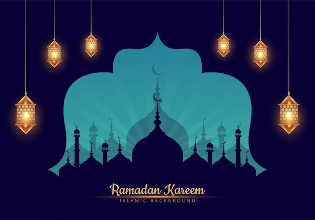 Elegante ramadan kareem fundo elegante decorativo