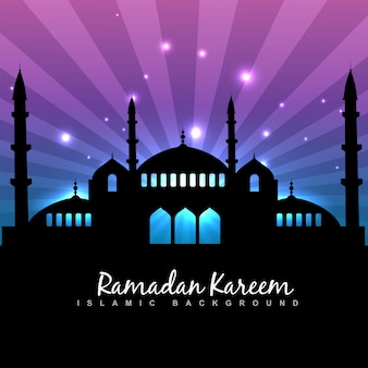 Elegante ramadan kareem islamic background