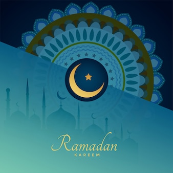 Elegante, ramadan, kareem, islamic