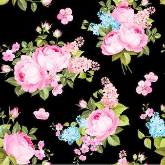 Elegante rosa padrão sem emenda.