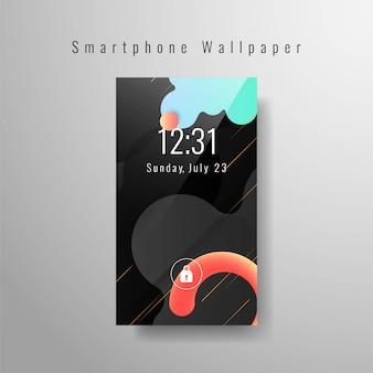 Elegante smartphone papel de parede na moda