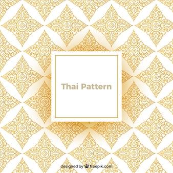 Elegante, tailandês, padrão, com, dourado, estilo